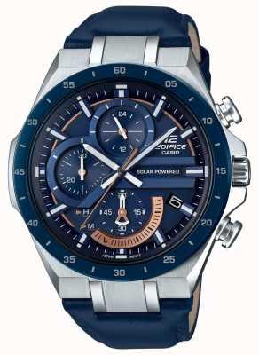 Casio |大厦|太阳能供电计时码表|蓝色皮革| EQS-920BL-2AVUEF