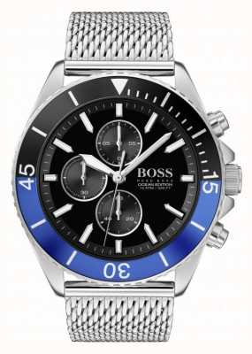 Boss |男士海洋版|钢网手链|黑色表盘| 1513742