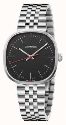 Calvin Klein |男士|直接|不锈钢手链|黑色表盘| K9Q12131