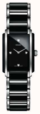 Rado 一体式钻石高科技陶瓷方形表盘腕表 R20613712