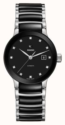 Rado Centrix自动镶钻陶瓷手链表 R30009752
