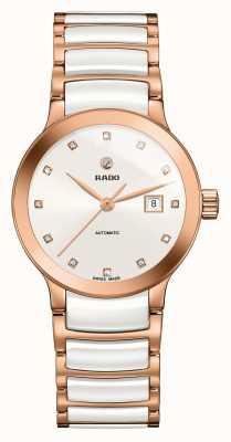 Rado Centrix自动镶钻陶瓷手链表 R30183742