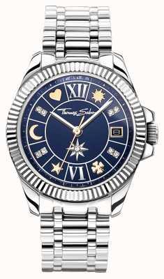 Thomas Sabo |女性的幸运符|蓝色表盘|不锈钢手链 WA0354-201-209-33