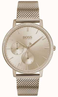 Boss |女人的无限|玫瑰金网|玫瑰金阳光表盘 1502519