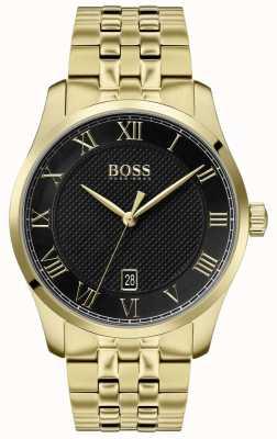 Boss |男士大师|金色手镯|黑色表盘| 1513739