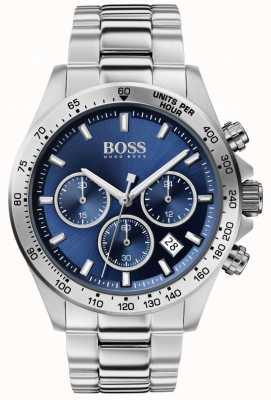 Boss |男子英雄运动勒克斯|钢手链|蓝色表盘| 1513755
