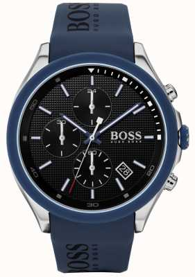 Boss |男人的速度|蓝色橡胶表带|黑色表盘| 1513717