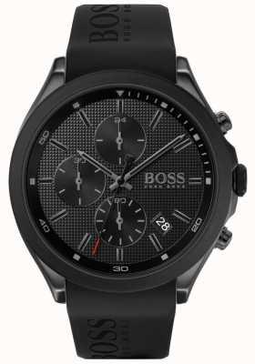 Boss |男人的速度|黑色橡胶表带|黑色表盘| 1513720