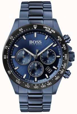 Boss |男士|英雄运动lux |蓝钢手链|蓝色表盘| 1513758