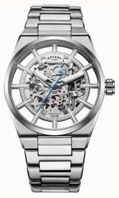 Rotary |男士格林威治G3自动上链|不锈钢手链| GB05210/06