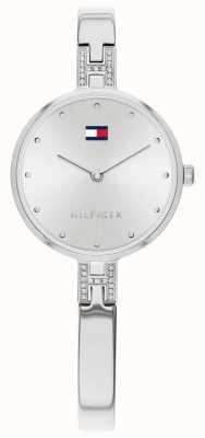 Tommy Hilfiger |女士套装|不锈钢手链|银色表盘| 1782137