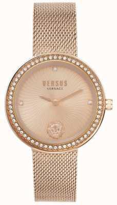 Versus Versace |女人的léa|玫瑰金网手链|玫瑰金表盘| VSPEN0919