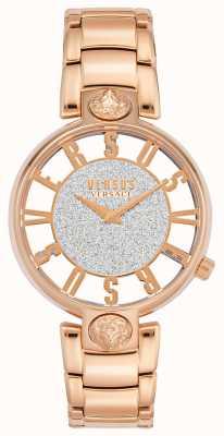 Versus Versace |女士的kirstenhof |玫瑰金手链|闪光表盘 VSP491519