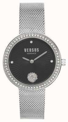 Versus Versace |女人的léa|银色手链|黑色表盘| VSPEN0719