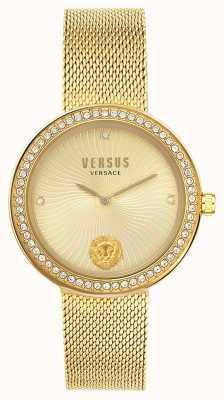 Versus Versace |女人的léa|金网手链|金色表盘| VSPEN0819