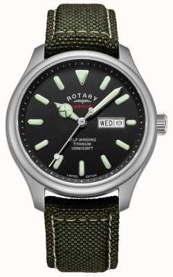 Rotary |男士遗产自动|钛金属表壳卡其带| GS05249/04