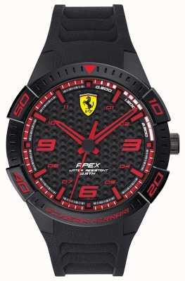 Scuderia Ferrari |男士的顶点|黑色橡胶表带|黑/红拨号| 0830662