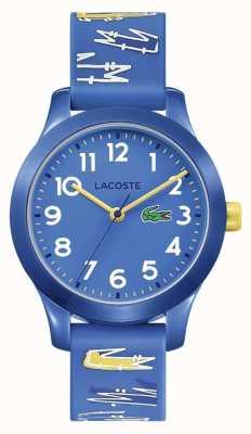 Lacoste |孩子12.12 |蓝色橡胶印花带|蓝色表盘| 2030019