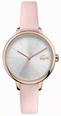 Lacoste |女戛纳|粉色皮革表带|银表盘| 2001101