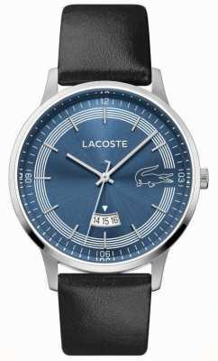 Lacoste |男人的马德里|黑色皮革表带|蓝色表盘| 2011034