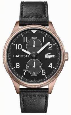 Lacoste |男士大陆|黑色皮革表带|黑色表盘| 2011042