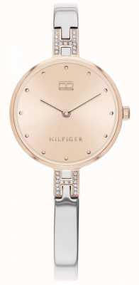 Tommy Hilfiger |女式套装|不锈钢手链|玫瑰金表盘| 1782138