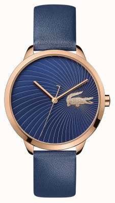 Lacoste |女人的lexi |蓝色皮革表带|蓝色表盘| 2001058