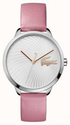 Lacoste |妇女的勒西|粉色皮革表带|银表盘| 2001057