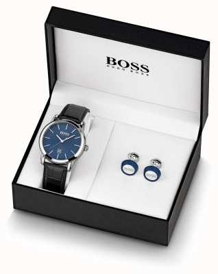 Boss |男士|蓝色手表和袖扣设置| 1570092