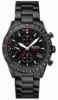 Boss |航空|黑色计时码表|黑色手链表| 1513771