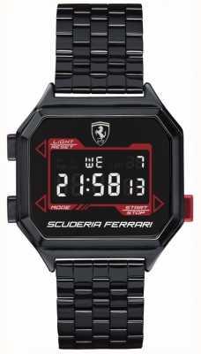 Scuderia Ferrari |男士digidrive |离子电镀手链|黑色表盘| 0830704