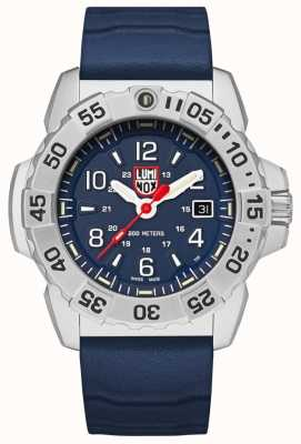 Luminox  海军印章钢3250系列 蓝色橡胶表带 蓝色表盘 XS.3253