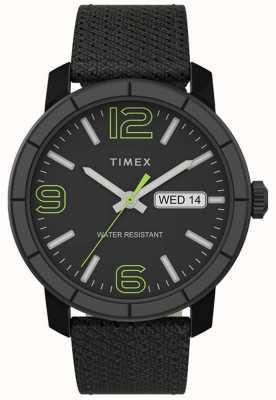 Timex |男士Mod 44毫米|黑色尼龙表带|黑色表盘| TW2T72500