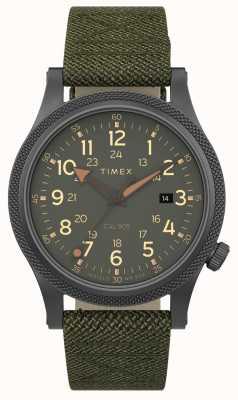 Timex |盟军lt 40mm |灰盒|绿色织物表带| TW2T76000
