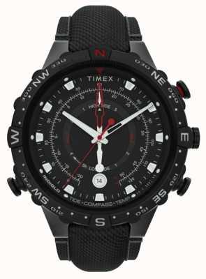 Timex |联合45mm |黑色织物表带|黑色表盘| TW2T76400