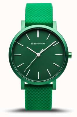 Bering |真正的极光|绿色橡胶表带|绿色表盘| 16934-899