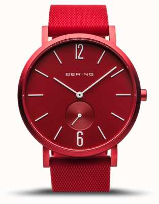 Bering |真正的极光|红色橡胶表带|红色表盘| 16940-599