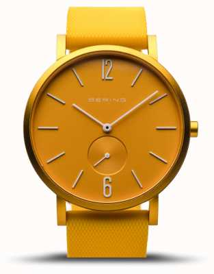 Bering |真正的极光|黄色橡胶表带|黄色表盘| 16940-699