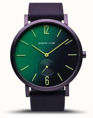 Bering |真正的极光|紫色橡胶表带|绿色/紫色表盘| 16940-999