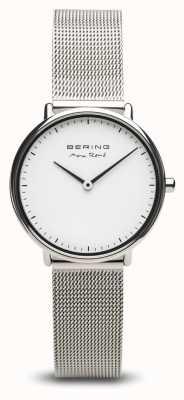Bering | maxrené|女士抛光银|钢网手链| 15730-004