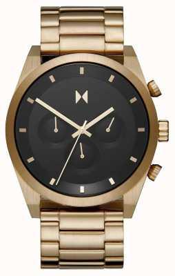 MVMT 计时码表|镀金钢手链|黑色表盘| 28000047-D