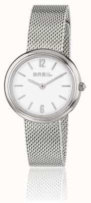 Breil 虹膜白色表盘不锈钢网状手链 TW1776
