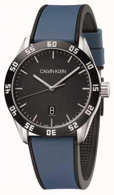 Calvin Klein |男子比赛|蓝色橡胶表带|黑色表盘| K9R31CV1