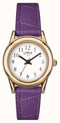 Limit 女士紫色表带白色表盘 6982