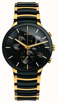Rado Centrix计时码表XL金色高科技陶瓷 R30134162