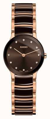 Rado Centrix钻石,白色陶瓷和玫瑰金 R30190702