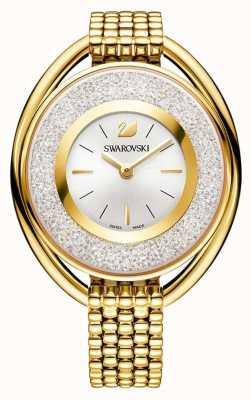 Swarovski 结晶|椭圆形黄金pvd手链|银色表盘 5200339