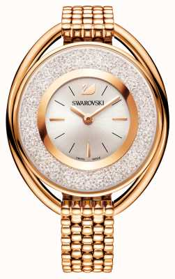 Swarovski |结晶|椭圆形镀玫瑰金手链|白色表盘 5200341