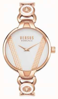 Versus Versace |圣日耳曼|玫瑰金色不锈钢|白色表盘 VSPER0419