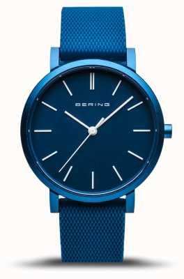 Bering |真正的极光|蓝色橡胶表带|蓝色表盘| 16934-799